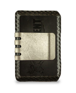 HELL-BENT® 2.5 Wallet #BLACKOUT and Raw Titanium Money Clip