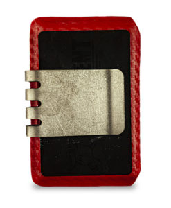 HELL-BENT® 2.5 Wallet EMT Red and Raw Titanium Money Clip